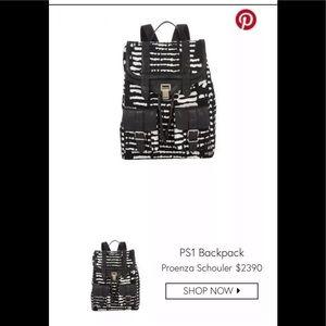 Proenza schouler baja ps1 backpack black white
